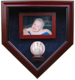 Baby's First Autograph with 4x6 Photo Homeplate Shaped Display Case