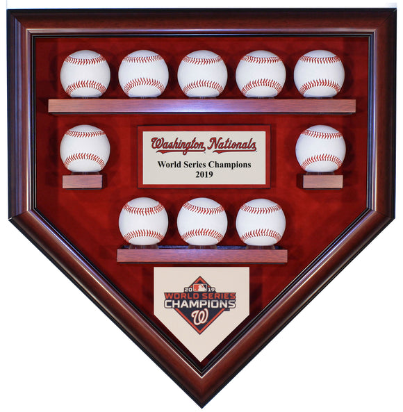 10 Baseball Washington Nationals 2019 World Series Homeplate Shaped Display Case