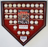 30 Baseball w/SI Boston Red Sox 2018 World Series Homeplate Shaped Display Case