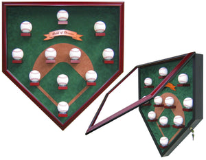 "My Field of Dreams ""Modern Day"" Homeplate Shaped Display Case"