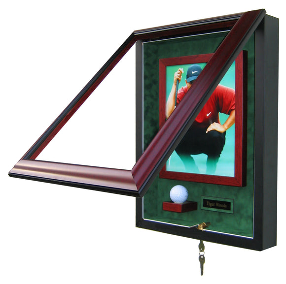 1 Golf Ball, 8x10 Photo with Nameplate Display Case