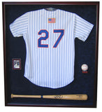 Jersey, Bat, Ball and Card Display Case