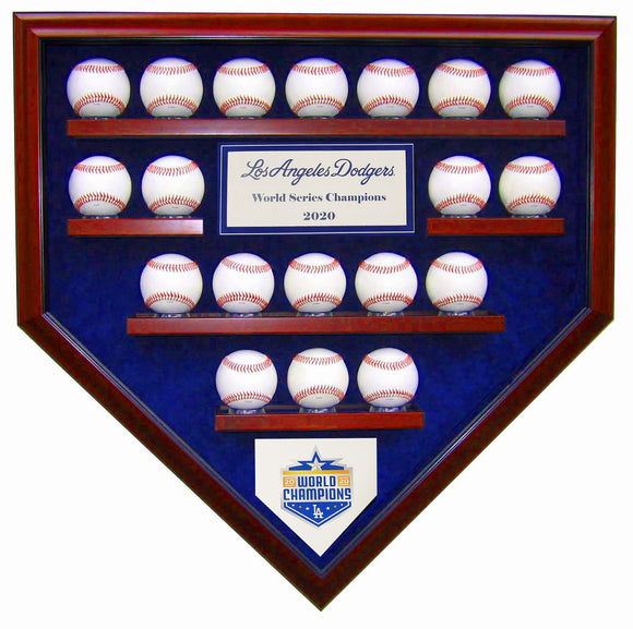 19 Baseball LA Dodgers 2020 World Series Homeplate Shaped Display Case