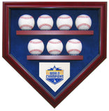 7 Baseball LA Dodgers 2020 World Series Homeplate Shaped Display Case