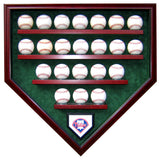 22 Baseball Team Homeplate Shaped Display Case