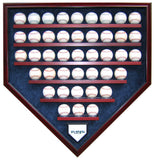 42 Baseball Team Homeplate Shaped Display Case