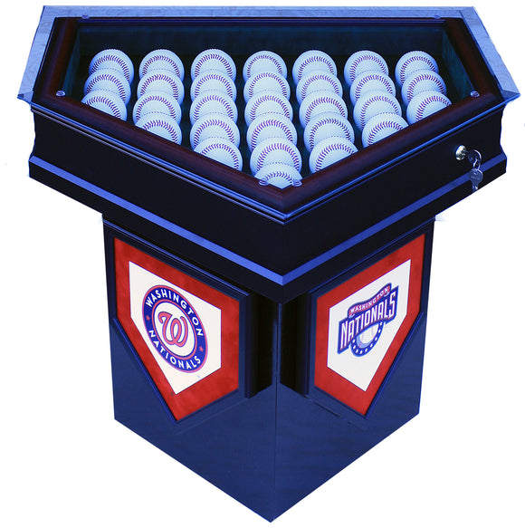 Washington Nationals 2019 World Series 30 Baseball Homeplate Shaped End Table Display Case
