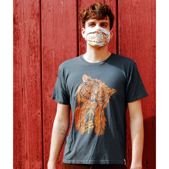 Owl Hand Painted Bamboo Crew Neck Tee
