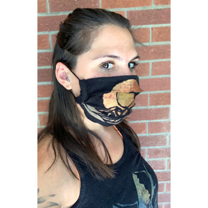 Colorado Mountain Hand Painted Bamboo Face Mask w/ Liner