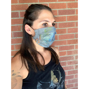 Water Hand Painted Bamboo Face Mask w/ Liner