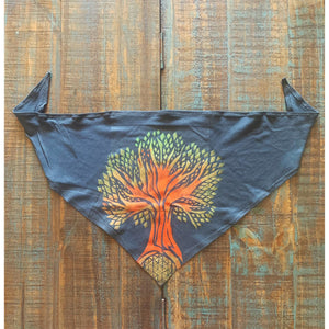 Tree of Life Hand Painted Bamboo Bandana w/ Liner