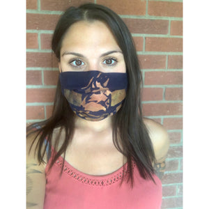 Third Wolf Logo Hand Painted Bamboo Face Mask w/ Liner