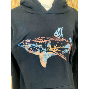 Shark Hand Painted Organic Cotton RPET Hoodie