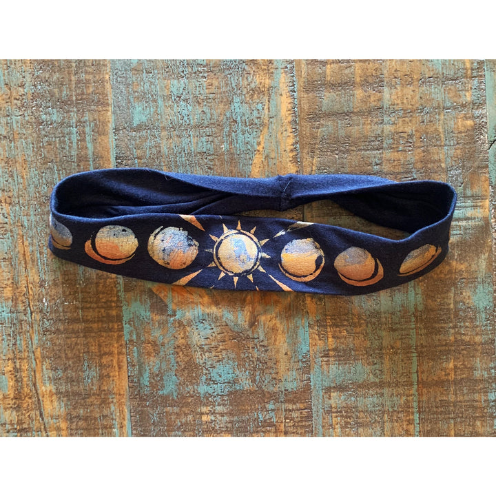 Solar Eclipse Hand Painted Bamboo Headband