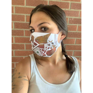 Freedom Hand Painted Bamboo Face Mask w/ Liner