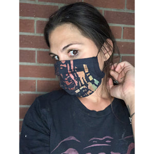 Aspens Hand Painted Bamboo Face Mask w/ Liner