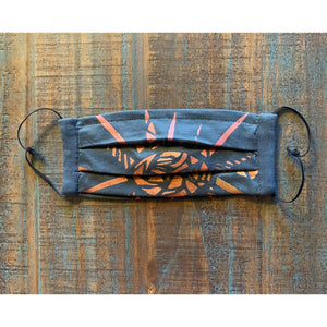 Sun Ray Hand Painted Bamboo Face Mask w/ Liner