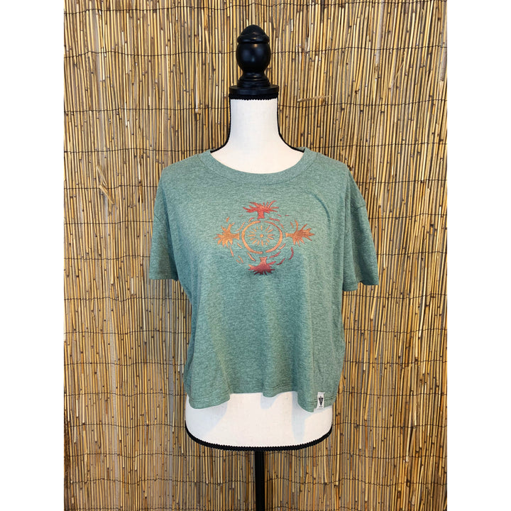 Medicine Wheel Hand Painted Women's Crop Tee