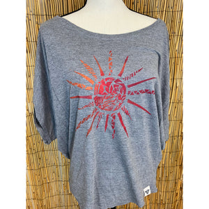 Sun Ray Hand Painted Women's Poncho Cut