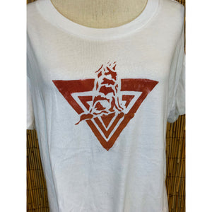 Third Wolf Logo Hand Painted Women's Crop Tee