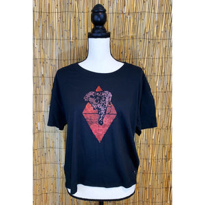 Tri Elephant Hand Painted Women's Crop Tee