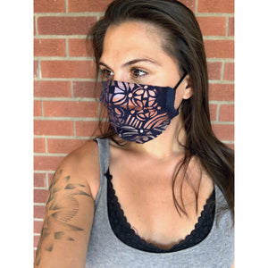 Hamsa Hand Painted Bamboo Face Mask w/ Liner