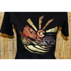 Red Rocks Hand Painted Bamboo Crew Neck Tee