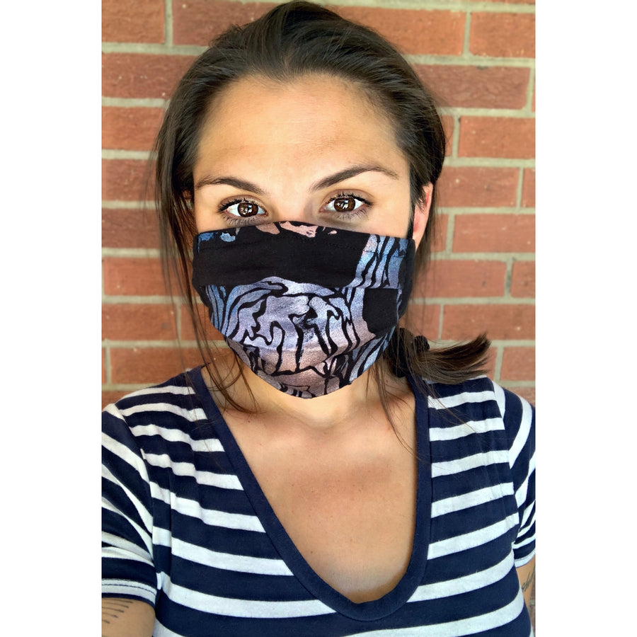 Octopus Hand Painted Bamboo Face Mask w/ Liner
