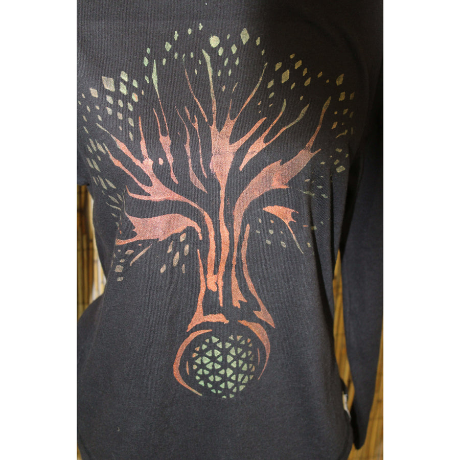 Tree of Life Hand Painted Women's Long Sleeve