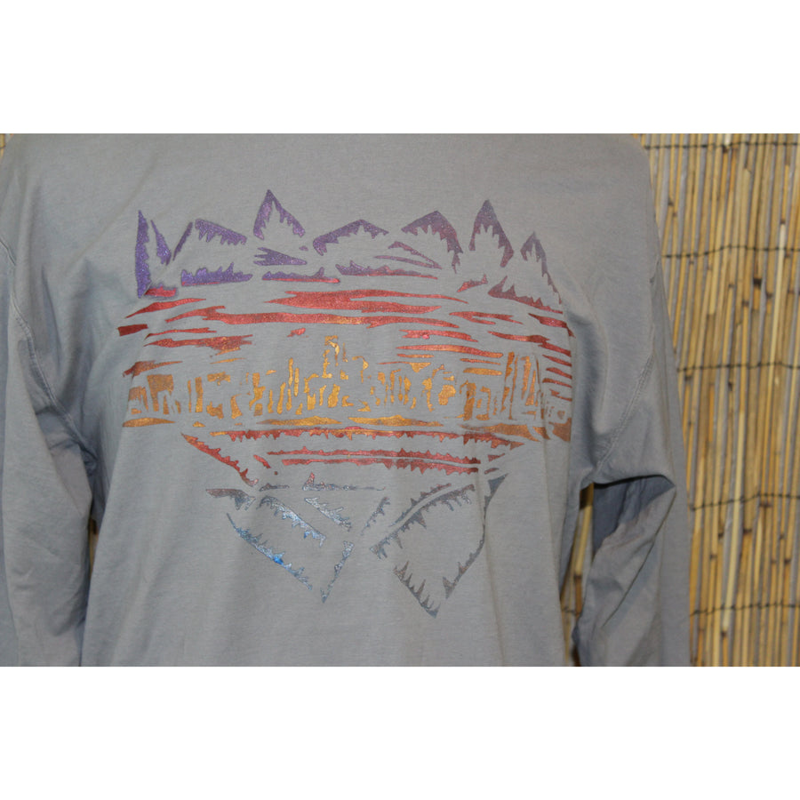 Denver Skyline Hand Painted Comfort Long Sleeve