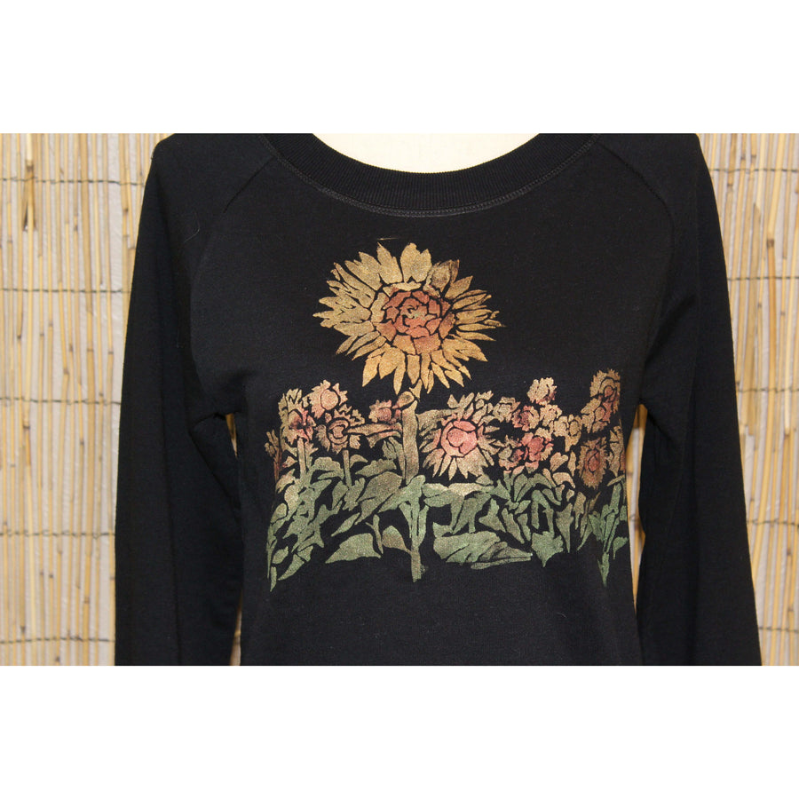 Sunflower Field Hand Painted Women's Sweatshirt