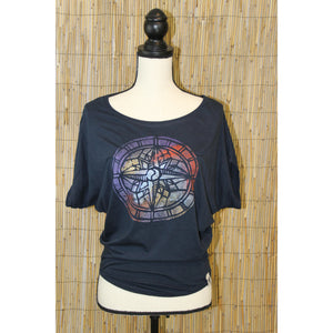 Compass Hand Painted Women's Poncho Cut