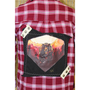 Bear Painting Handmade Flannel