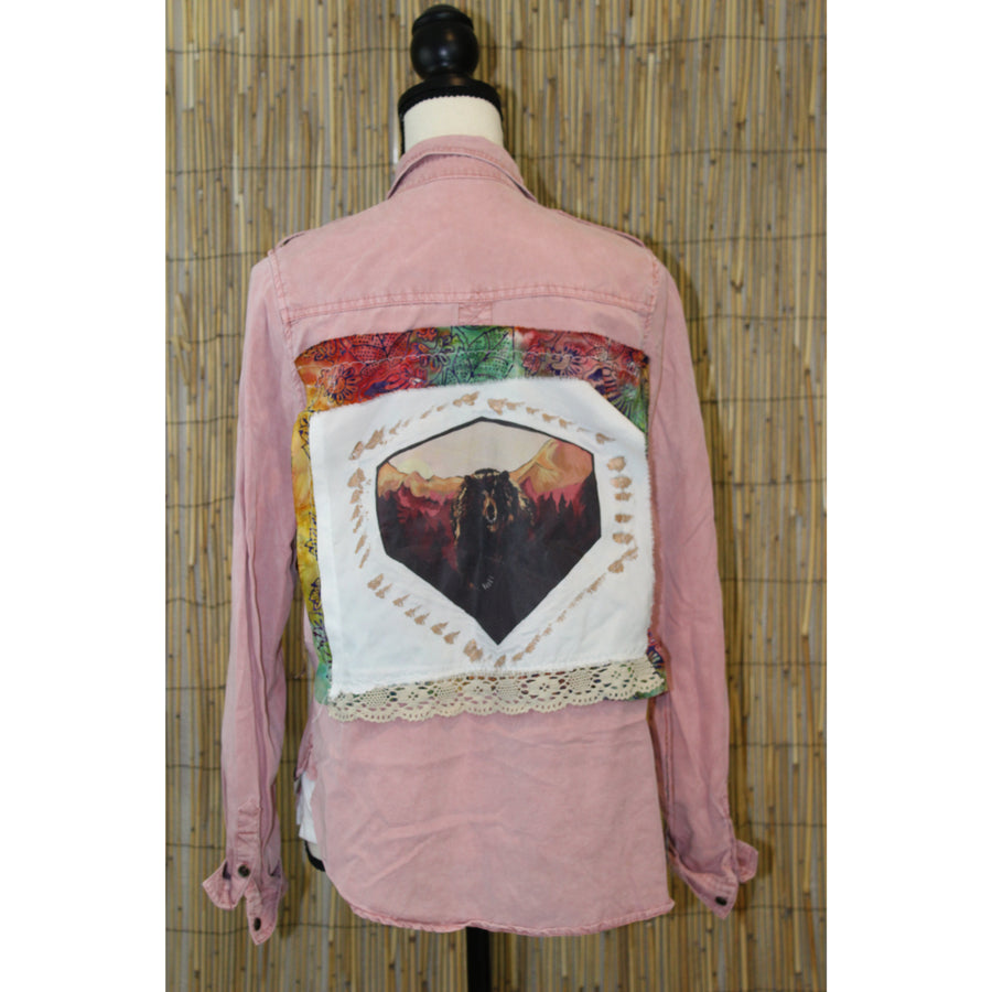 Bear Painting Handmade Shirt