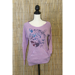 Jaguar Hand Painted Cut Off Raglan Sweatshirt