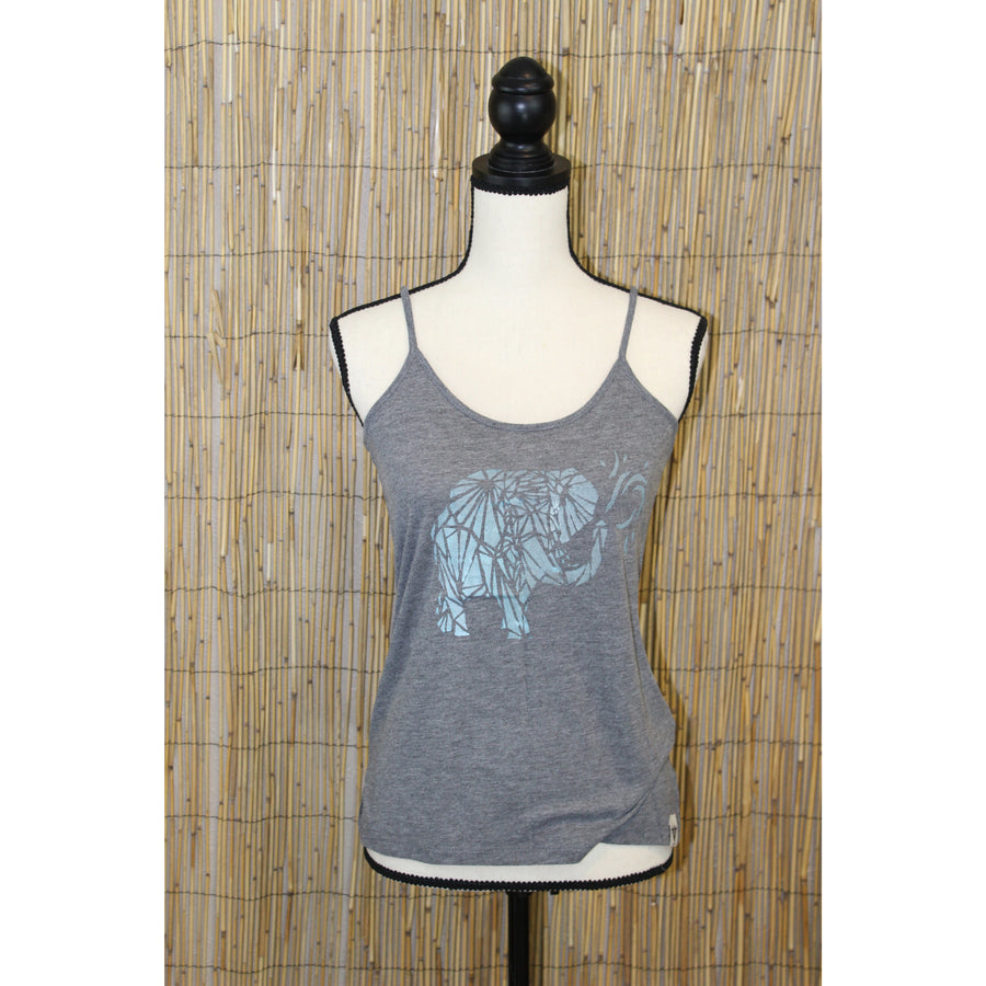 Trunk Up Elephant Hand Painted Women's Cami Tank