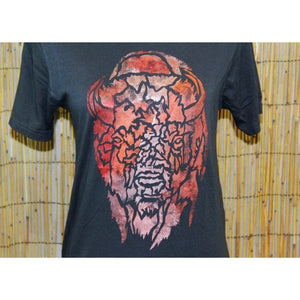 Buffalo Hand Painted Bamboo Crew Neck Tee