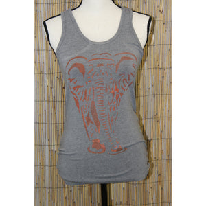 Elephant Hand Painted Women's Yoga Tank