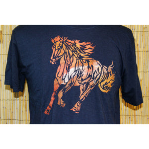 Bronco Hand Painted Bamboo Crew Neck Tee
