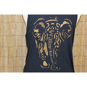 Elephant Hand Painted Bamboo Men's Tank