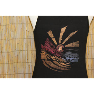 Red Rocks Hand Painted Bamboo Men's Tank