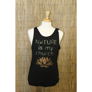 Nature is my Church Hand Painted Bamboo Men's Tank