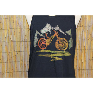 Mountain Bike Hand Painted Bamboo Men's Tank