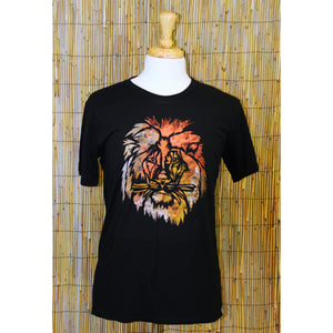 Lion Hand Painted Bamboo Crew Neck Tee