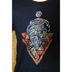 Water Hand Painted Bamboo Crew Neck Tee