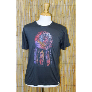 Dream Catcher Hand Painted Bamboo Crew Neck Tee