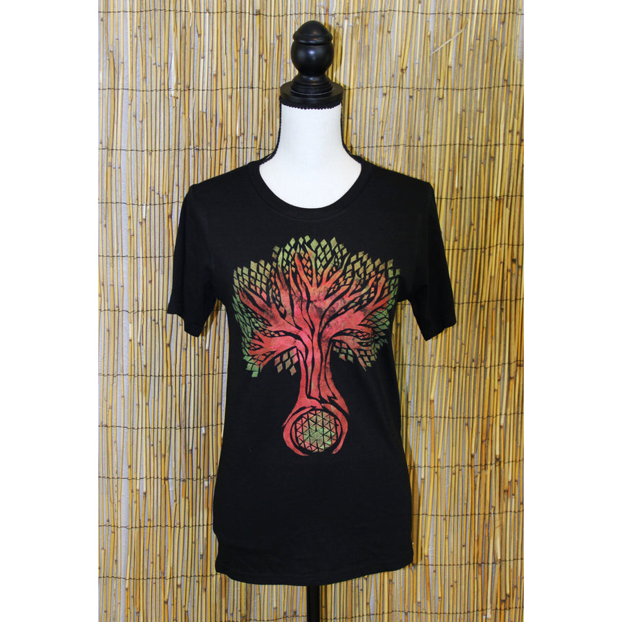 Tree of Life Hand Painted Bamboo Crew Neck Tee