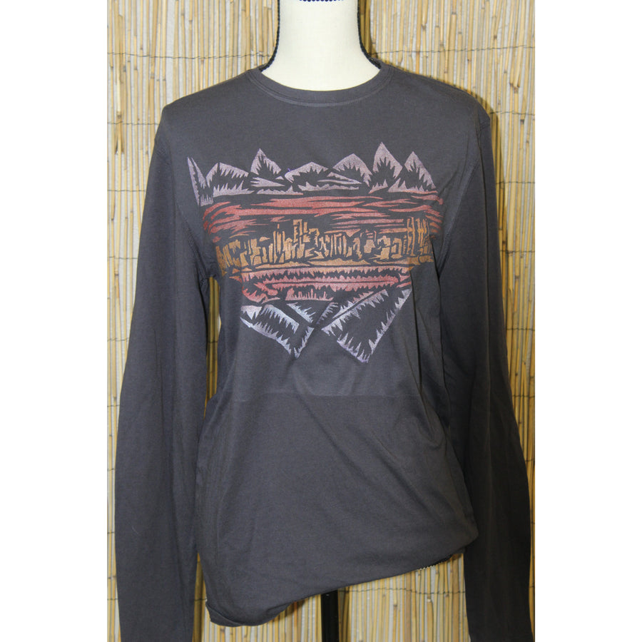 Denver Skyline Hand Painted Bamboo Long Sleeve