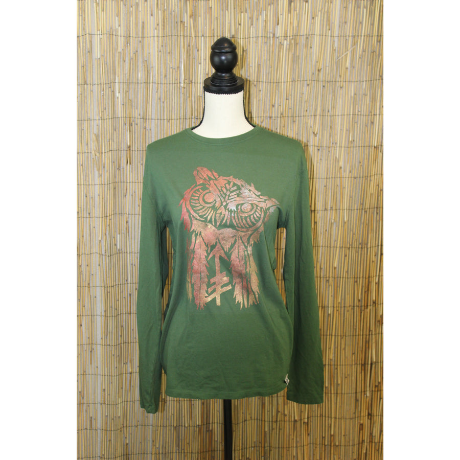 Owl Hand Painted Bamboo Long Sleeve