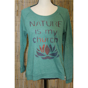 Nature is my Church Hand Painted Women's Long Sleeve